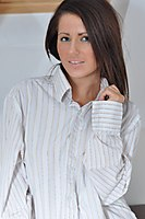Cute Teen In A Mens Shirt - Picture 4